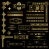 luxurious Golden Ornaments elements 04