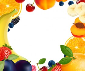 Fresh Fruits vector 02