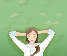 Beauty rest vector