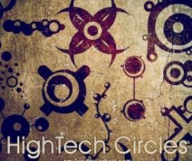 HighTech Circles Photoshop Brushes