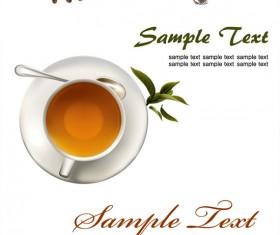 Coffee tea, lemon tea