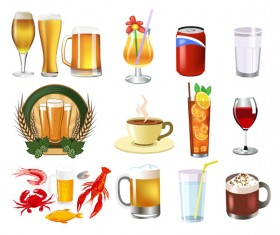 The beer and beverage etc. vector set