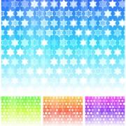 Colorful hexagonal background design vector