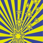 Link toStars and the radiation background vector graphic