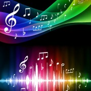 Link toAbstract colored background music vector