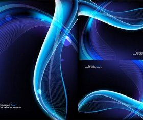 Blue background glare vector