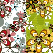 Link toLovely flowers elements background art vector