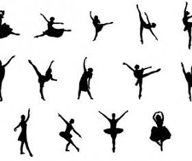 Ballet of action peoples cut vector