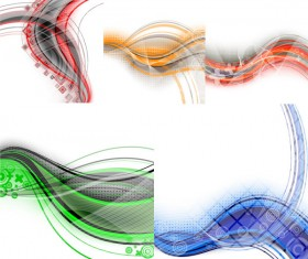The dynamic lines of the background 1 design elements
