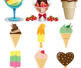 Color ice cream Vector graphic