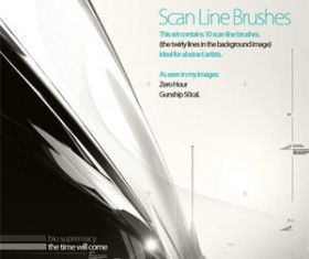 10 Scan Line Photoshop Brushes