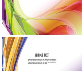 Abstract colored dynamic wave line vector