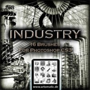 Link to16 industrial photoshop brushes