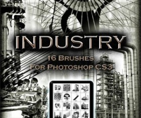 16 INDUSTRIAL Photoshop Brushes