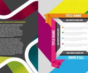 Square digital label design vector