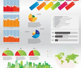 Statistical chart vector art