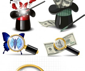 dollar advertising elements vector art
