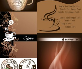 D exquisite coffee elements