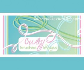 Curly Photoshop Brushes