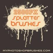 Link to14 hi res splatter photoshop brushes