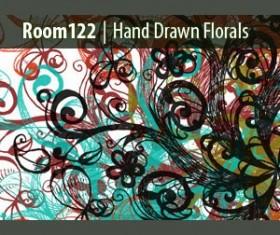 Hand Drawn Floral Pattern Brushe Photoshop Brushes
