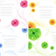 Link toLovely flowers elements vector graphics