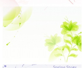 Hand-painted floral background Vector graphic