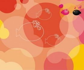 Cartoon fish background music art