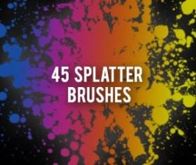 Spetter and splash with splatter Photoshop Brushes