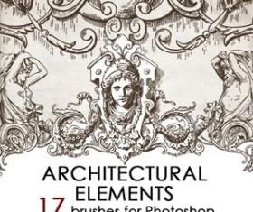 Architectual ornaments Photoshop Brushes