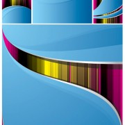 Link toAbstract colored line backgrounds vector graphic
