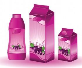 Grape juice beverage Vector