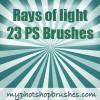 Rays of Light Photoshop Brushes