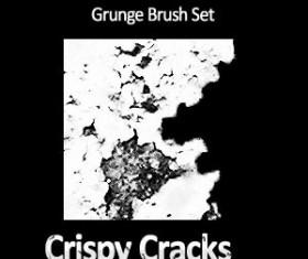 Crispy Cracks Grunge Brush Set Photoshop Brushes