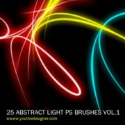 Link to25 abstract light free photoshop brushes