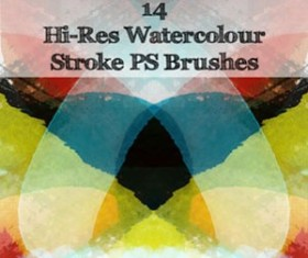 14 HiRes Watercolour Photoshop Brushes