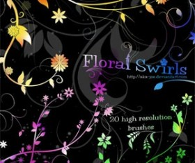 Floral Swirl Photoshop Brushes