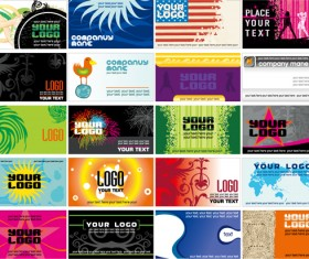 European style business card vector art