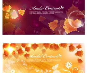 Orange leaf background design vector