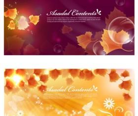 Orange leaf background design vector