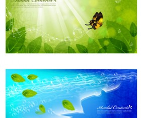 Green butterfly background vector