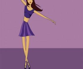 Dancing girl vector graphics
