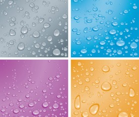 Drops of water Backgrounds art vector