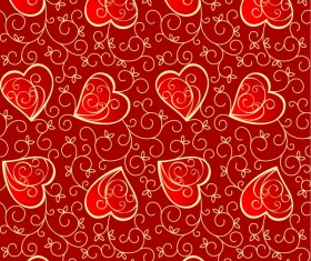 Heart Decorative pattern background vector Graphic