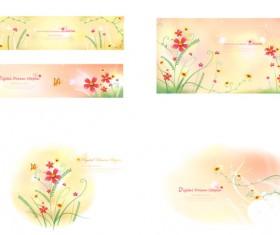 Fresh flower background 01 art vector