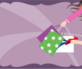 Shopping women 04 vector