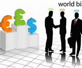 Business white-collar silhouette vector