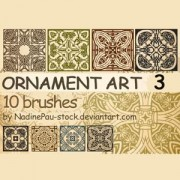 Link toOrnament art photoshop brushes
