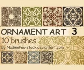 Ornament art Photoshop Brushes
