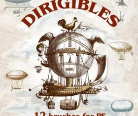 Dirigibles Photoshop Brushes